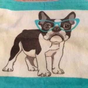 Kassafina French Bulldog Washcloth wearing Glasses